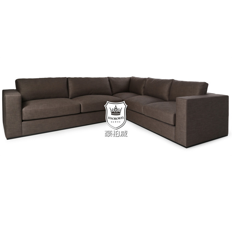 [Hot Item] UK Fireproof Black Leather Corner Sofa Bed