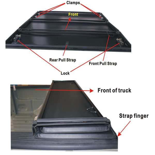 China Hot Sale Truck Tonneau Covers For Nissan Frontier 5ft Bed 05 11 China Truck Tonneau Covers Soft Truck Tonneau Covers