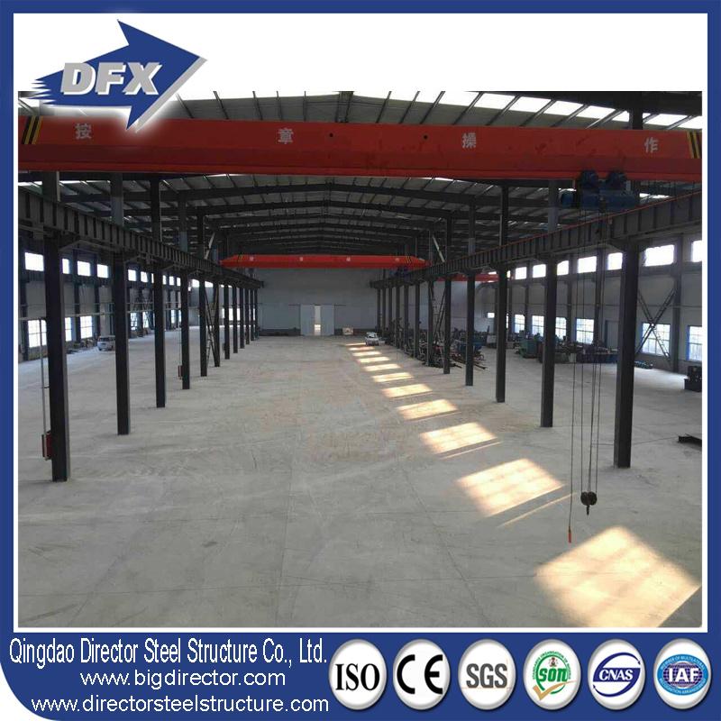 China Steel Frame Workshop with Crane Steel Structures Design Photos
