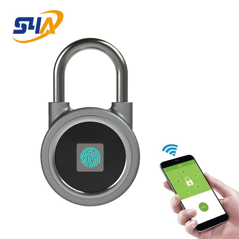 e27d4affd53a [Hot Item] Fingerprint APP Padlock Security Bluetooth Smart Padlocks