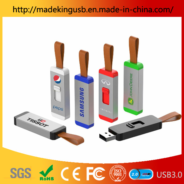 Sliding/Push-Pull Plastic USB Flash Drive with Customized Logo pictures & photos