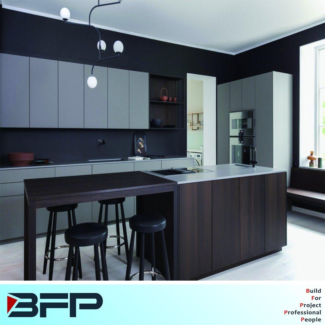 China New Design Oak Laminated Kitchen Cabinet Wood Kitchen ...