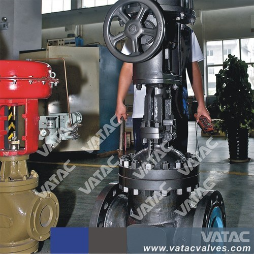 Cast Carbon or Stainless Steel Flow or Pressure Globe Control Valve pictures & photos