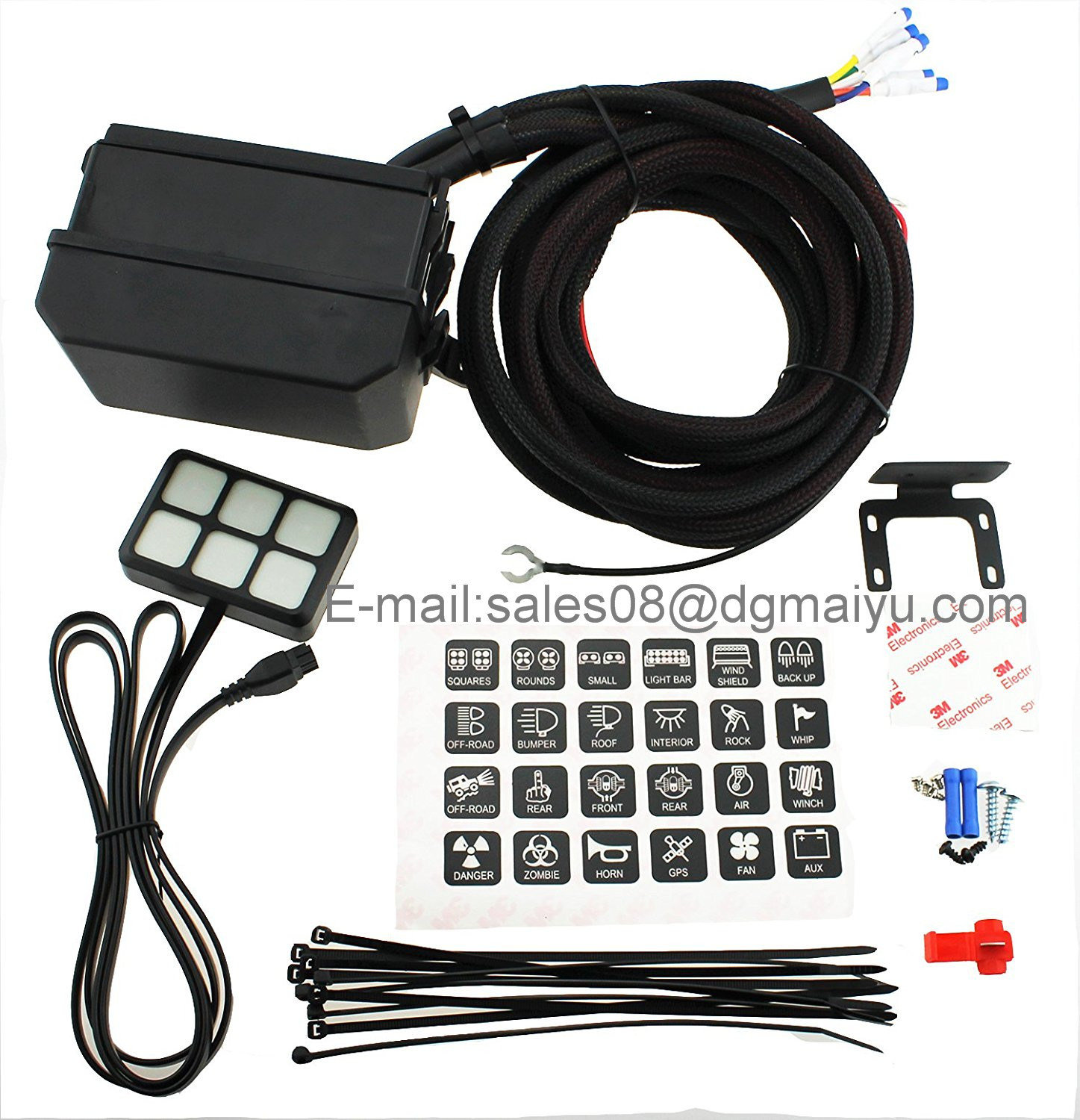 Astonishing China Dc 12V Switch Relay Control Panel With Wiring Kit Universal Wiring Cloud Oideiuggs Outletorg