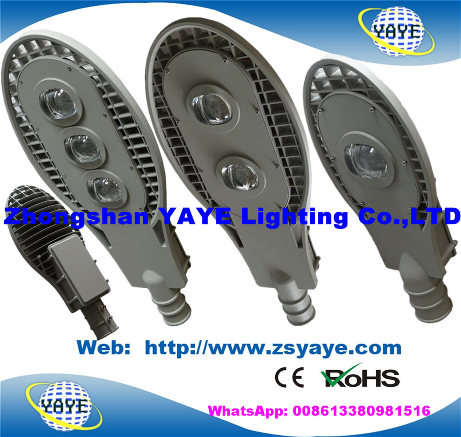 Yaye 18 Hot Sell Ce/RoHS 30W 50W 60W 70W 80W 100W 120W 140W 150W 160W 180W 200W 240W 250W 300W 400W Solar LED Street Light with 12 Years Production Experience