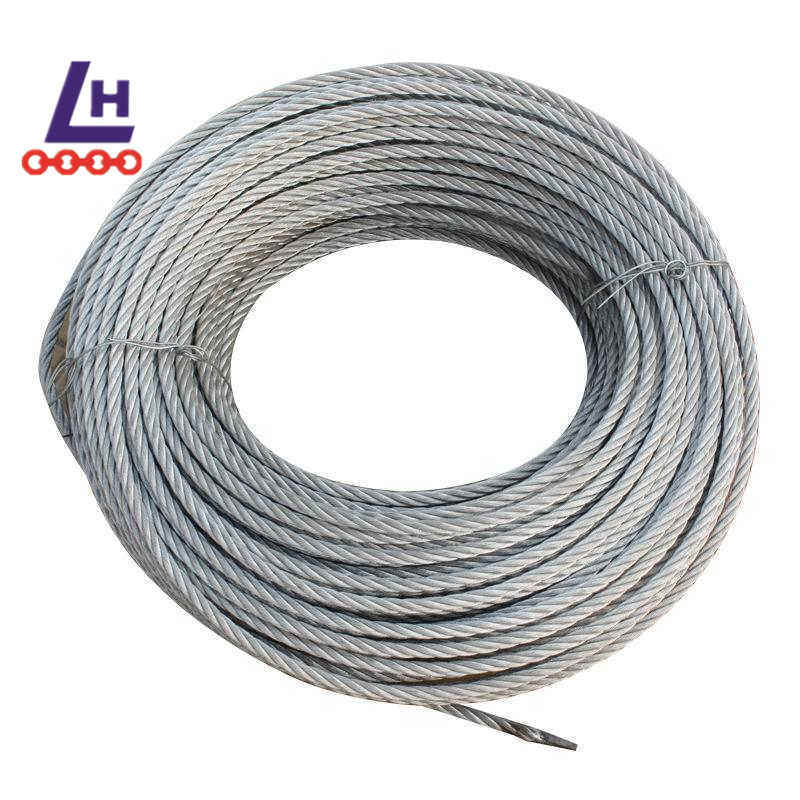 China 3/8′′ Electro Galvanized 7*19 Steel Wire Rope Photos ...