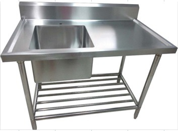 Stainless Steel Legging Commercial Compartment with One Portable Sink  (127011)