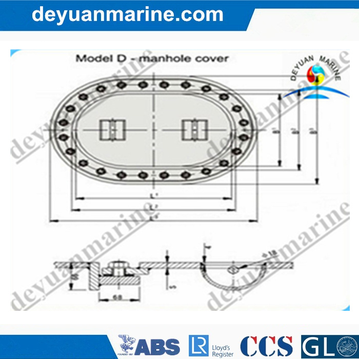 D Type Manhole Cover/Marine Watertight Hatch Cover