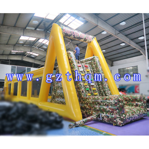 Customized Inflatable Mobile Zip Line Manufacturer/Large Inflatable Zip Line pictures & photos
