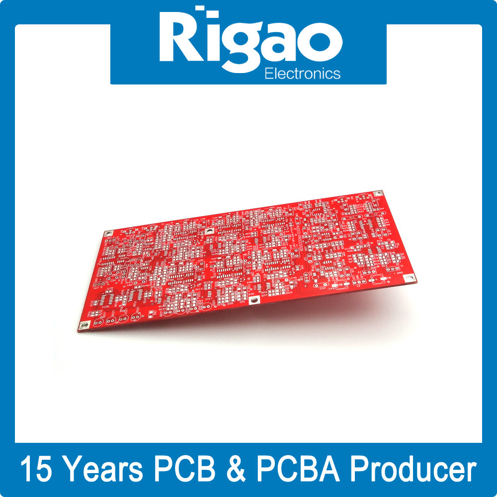 China Big Size Rigid Pcb Board With Red Solder Mask Shenzhen Oem Electronic Printed Circuit Manufacturerpcb