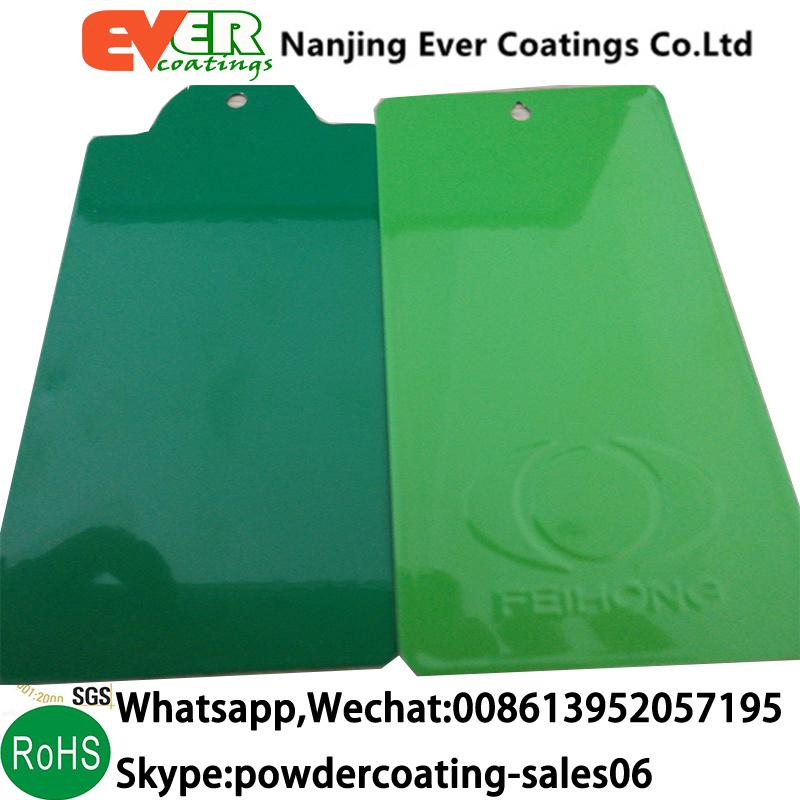 China Smooth Glossy Pine Green Color Ral6028 Powder Coating