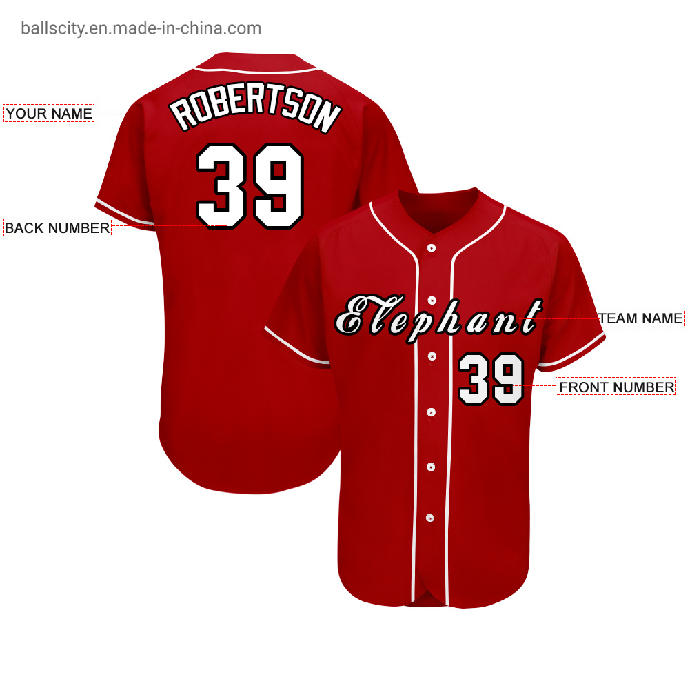China Suppliers Wholesale Custom Printing Baseball Wear 100%Polyester Baseball Jersey pictures & photos