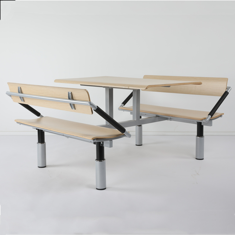 China Attached 4 People Restaurant Table And Bench China Restaurant Table And Bench Dining Table