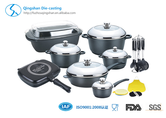 13PCS Ceramics Whitford Non-Stick Aluminum Cookware Set