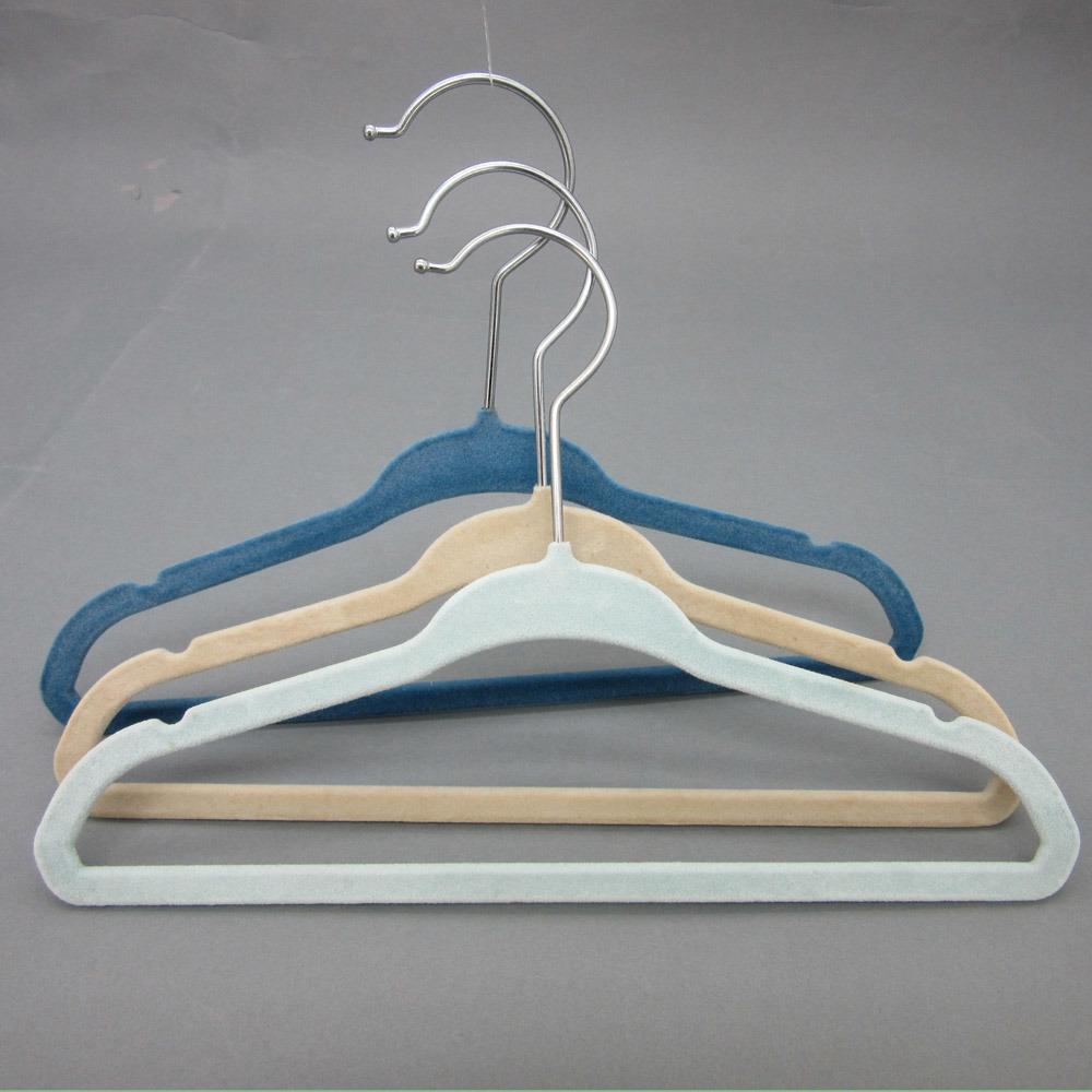 China Hh Brand Velvet Flocked Children Hanger, Wholesale Plastic ...