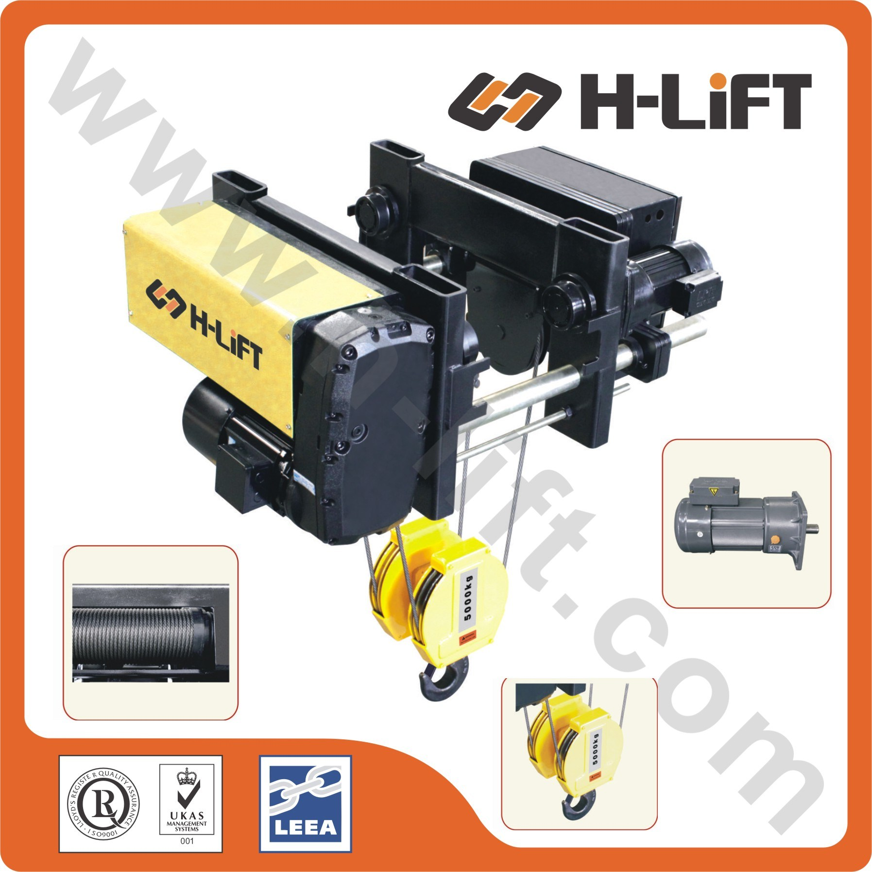 China Whl-D Type Low Headroom Electric Wire Rope Hoist - China ...
