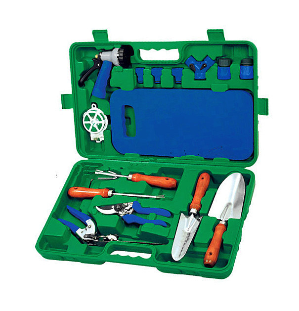 China 15pcs Garden Tool Kit In Moud Case Set