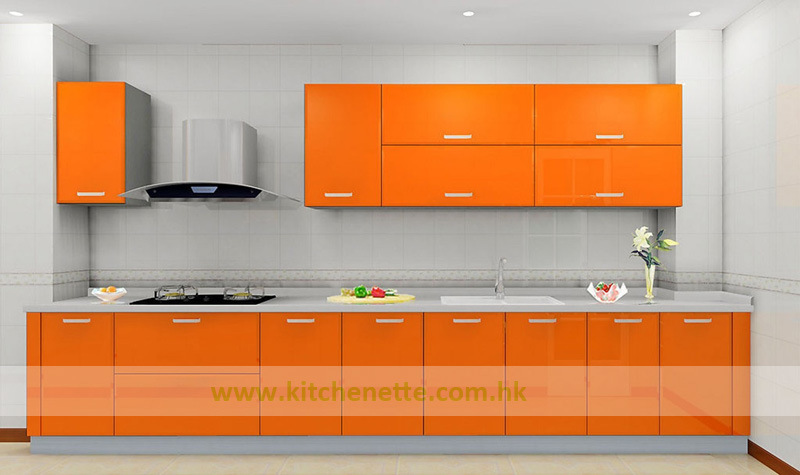 China Modular Hotel Kitchen Cabinets With Glossy Orange Lacquer Finish Wh D144 China Modular Kitchen Cabinets Hotel Kitchen Cabinets
