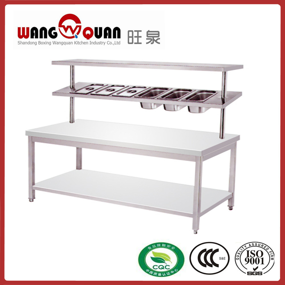 Kitchen 2 Tier Stainless Steel Worktable With E Rack