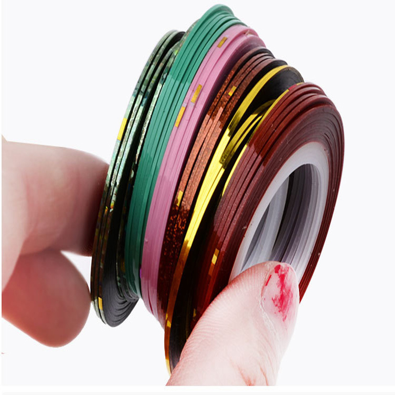 China 30 Colors Rolls Striping Tape Line Nail Art Sticker Tools ...