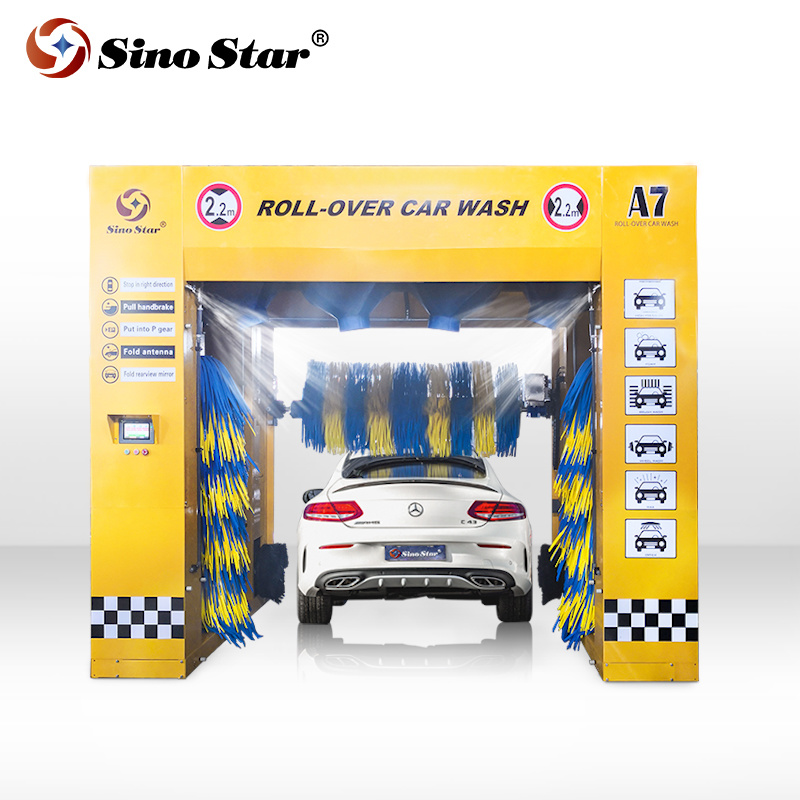 Car Wash And Wax >> Hot Item 5 Brushes Rollover Automatic Car Wash Machine Price From Sino Star Wiith Shampoo And Wax Function