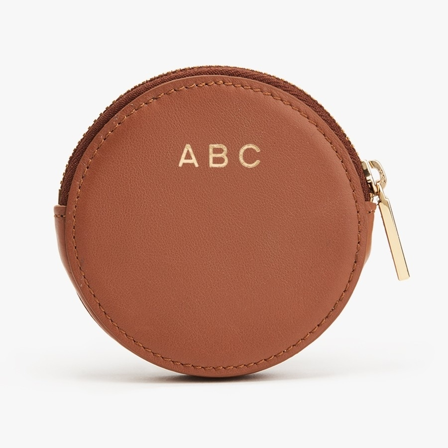 Factory New Customize Round Shape Small Leather Zip Coin Purse pictures & photos