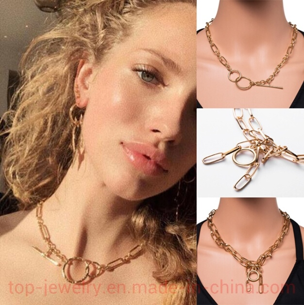 China Double Deck Popular Creative Simple Necklace Men S And Women S Hundred Lap Metal Chain Necklace China Jewelry And Necklace For Women Price