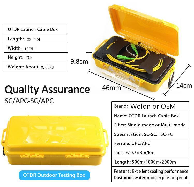 Optical Fiber Optic OTDR Launch Cable Box Singlemode 9//125um 500M SC UPC-LC UPC