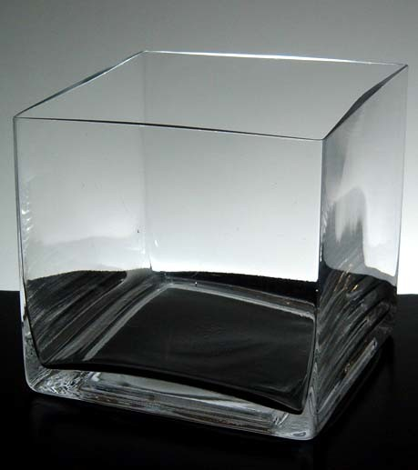 China Clear Glass Square Floral Vases Ld10007 China Square Glass