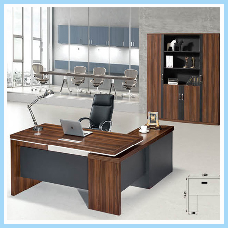 China Modern Design High Glossy Solid Surface Executive Office Desk Ceo Table Top Quality Furniture