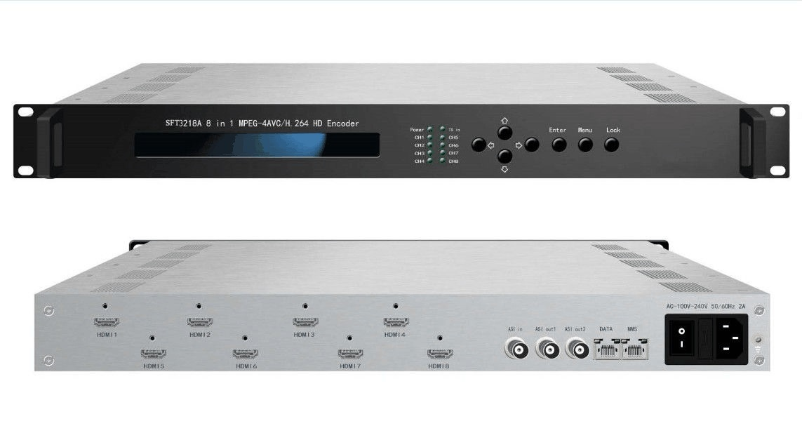 [Hot Item] 8 in 1 HD Audio Video Encoder with Asi Input