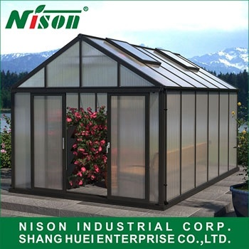 [Hot Item] Aluminum Alloy Profile Conservatory/Large Polycarbonate  Greenhouse/Easy Installation Flower House/DIY Warm House with Aluminium  Frame