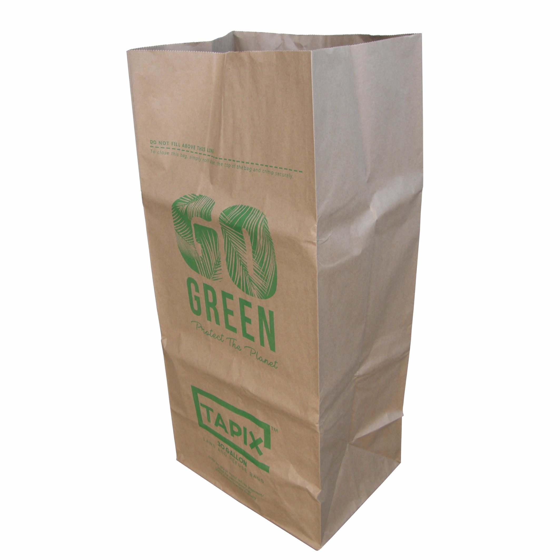 China Outdoor Kraft Paper Bag Leaf And Lawn Refuse Trash Bags Packaging