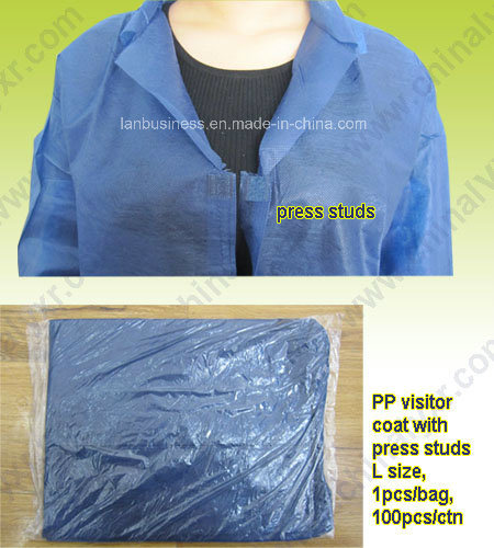 Ly Disposable Spp/SMS Nonwoven Lab Coat (LY-NLC-DB) pictures & photos