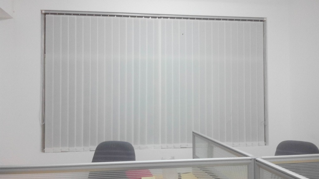 Beau 89mm Fabric Vertical Blinds Office Window Blinds
