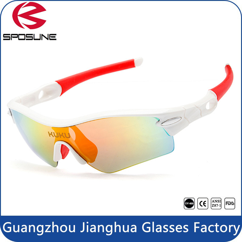 2017 Fashion Red Rubber Customized Sunglasses Professional Outdoor Bike Glasses