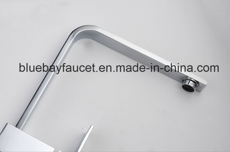 New Design Brass Square Kitchen Sink Mixer Tap