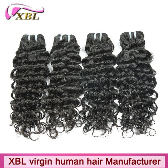 Natural Human Hair Weft Unprocessed Virgin Peruvian Hair Extension pictures & photos