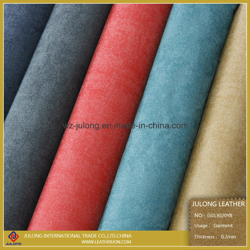 Good Hand Feeling PU Synthetic Leather Manufacture China (G013)