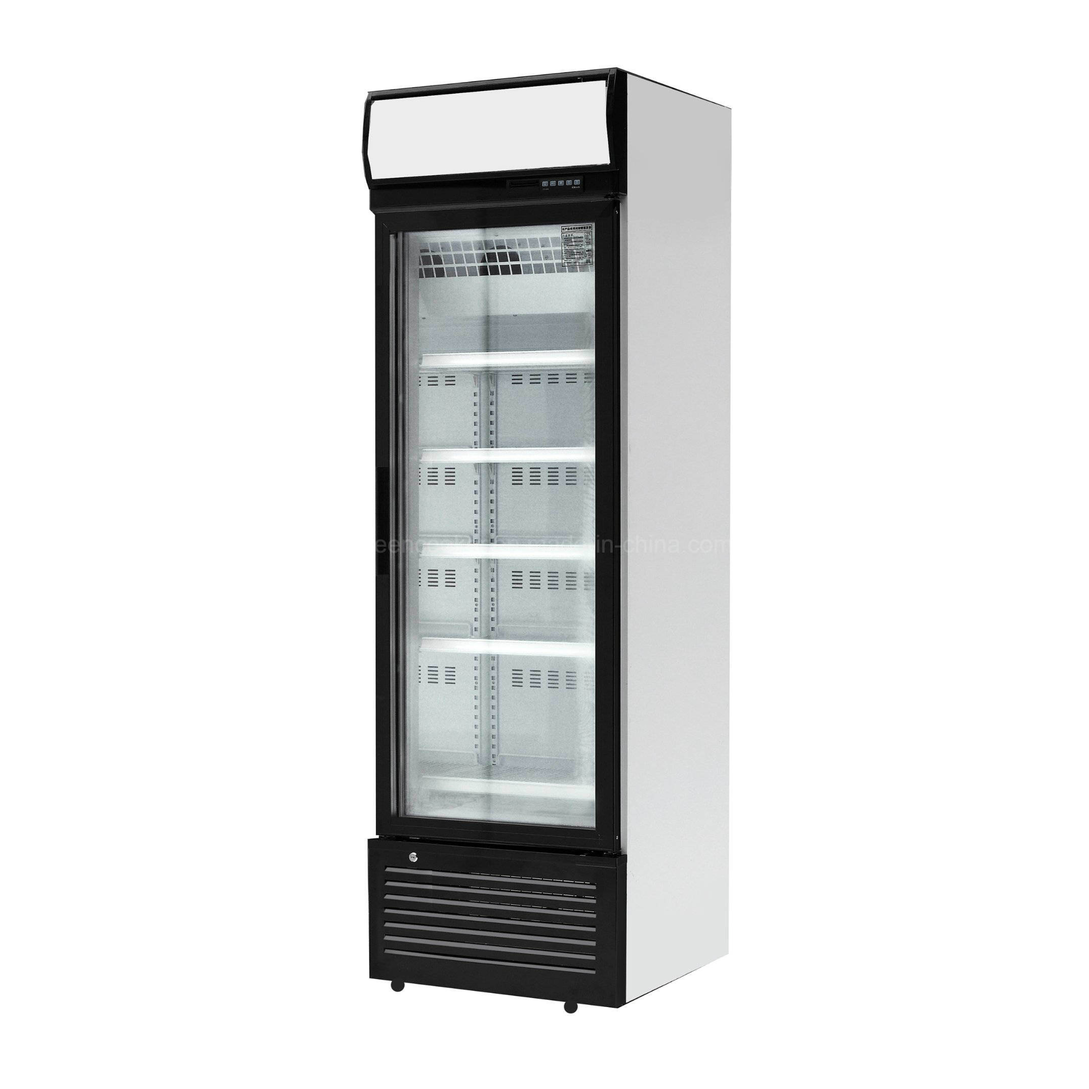 China Supermarket Glass Door Soft Drink Display Refrigerator With