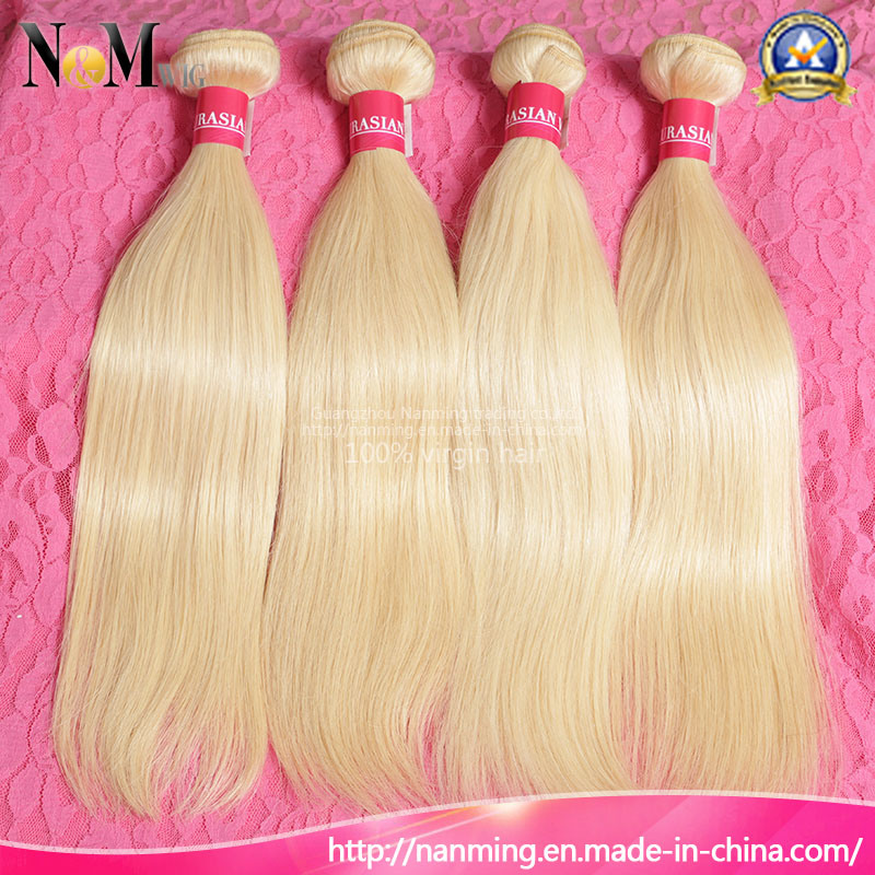 China Wholesale Blonde Virgin Hair Extension Color 613 Brazilian