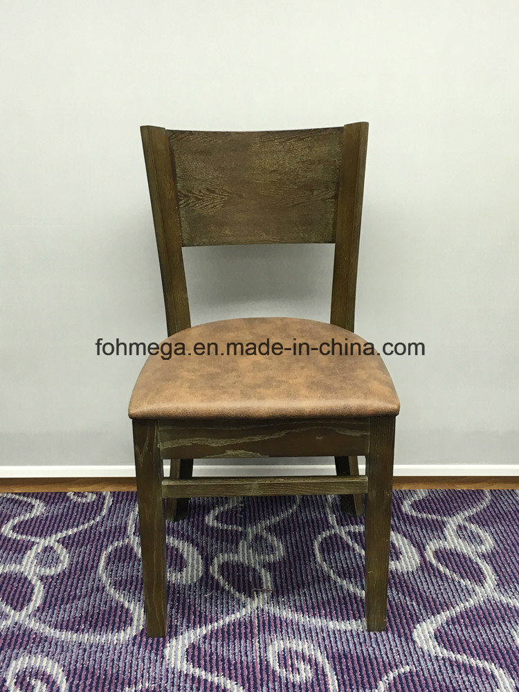China Foshan Factory High Back Old Wood Chair For Restauant Foh Bcc32