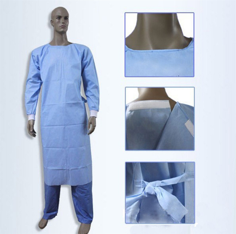 China Disposable SMS Sterile Hospital Gown / Surgical Clothes ...