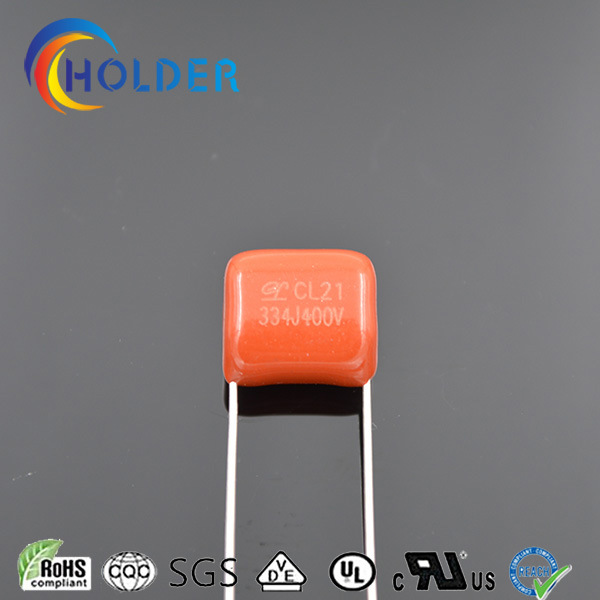 Polyester Capacitor (Cl21 334j/400V P=10) Cl21 Size Could Be Customized OEM