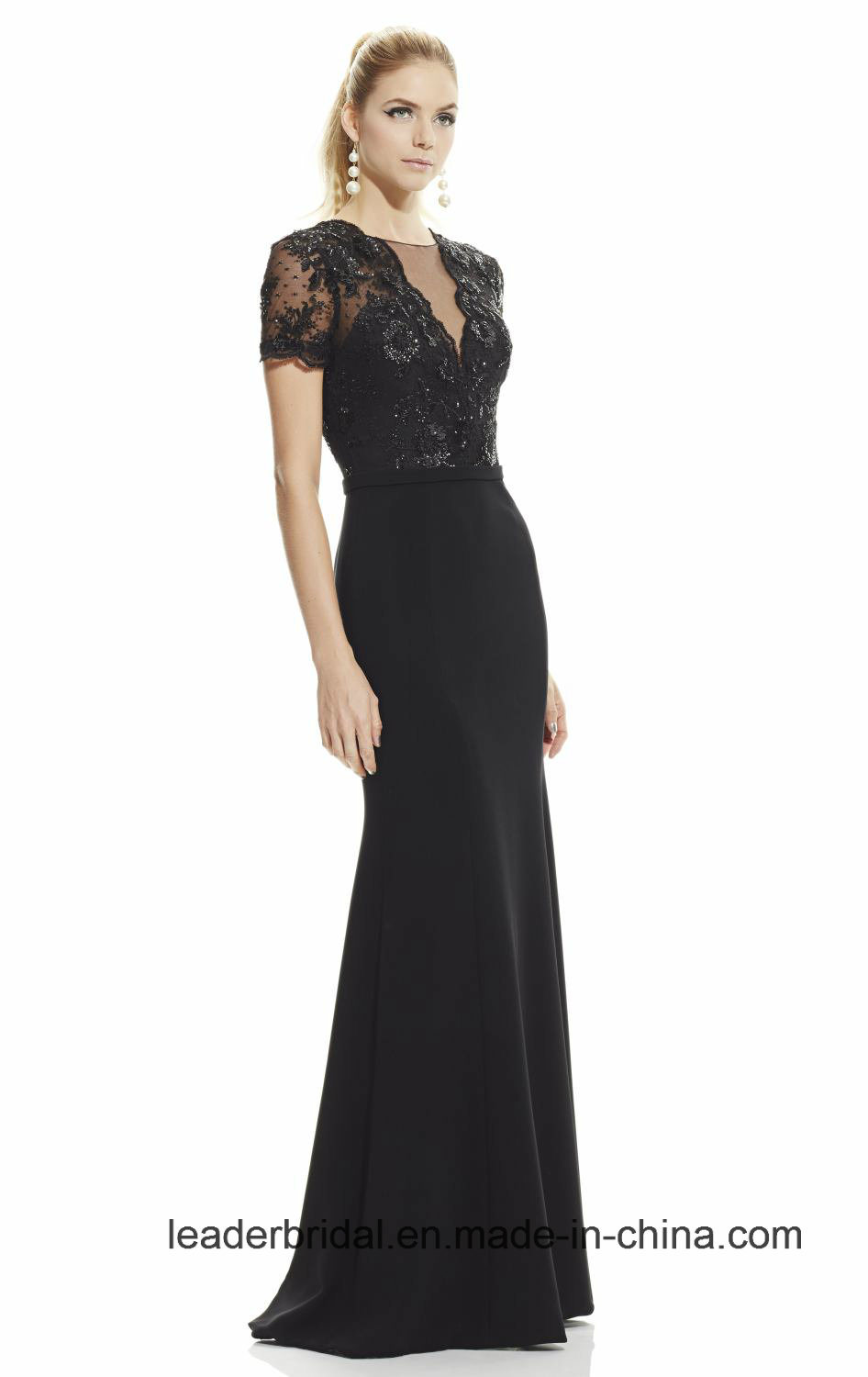 Formal Gowns Black Lace Evening Dresses