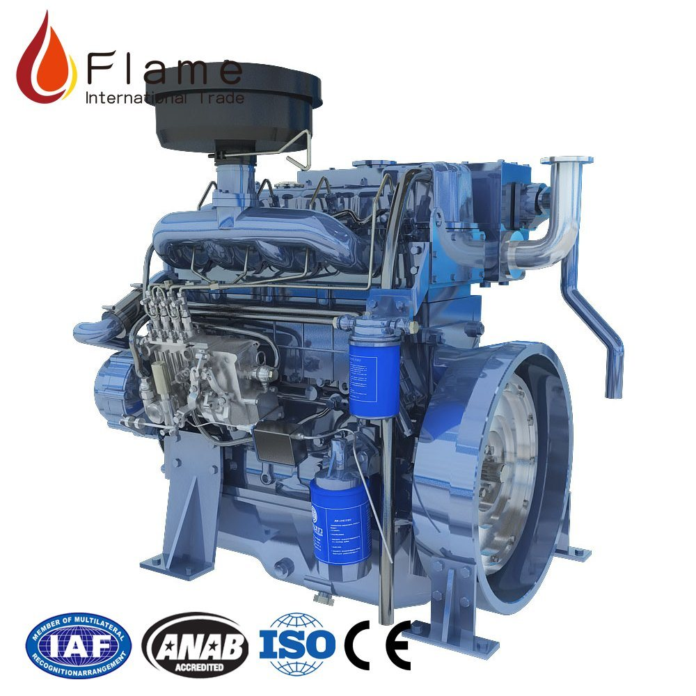 Electric Start 450kg Small Sel Engine Yangchai Inboard Boat Motor With Propeller