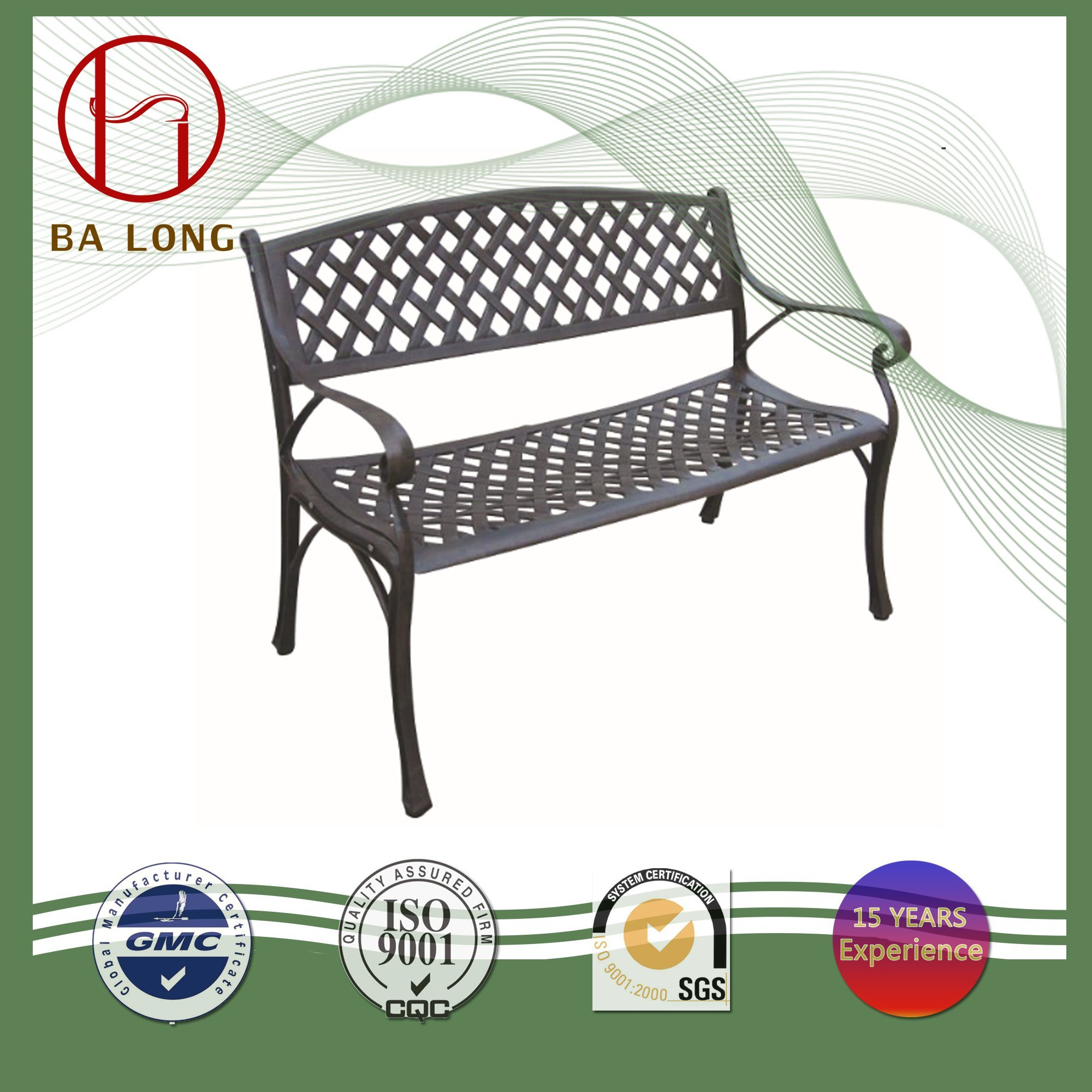 Brilliant Hot Item Leisure Cast Aluminium Metal Outdoor Patio Dining Garden Furniture Chair Bench Pabps2019 Chair Design Images Pabps2019Com