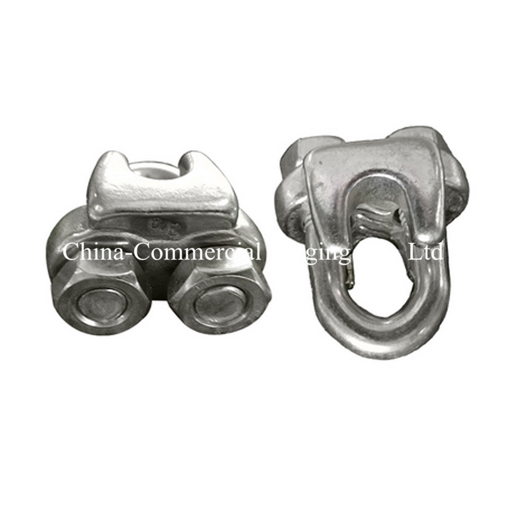 China Steel Wire Rope Fasteners Electric Galvanized Wire Rope Clips ...