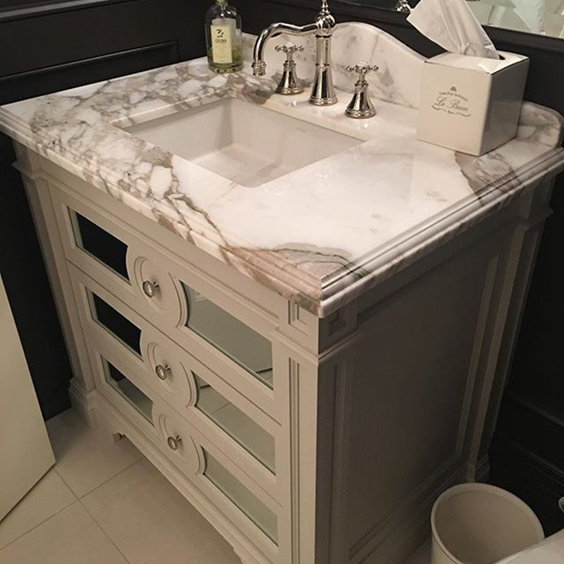 36 Inch Cararra White Marble Vanity Top
