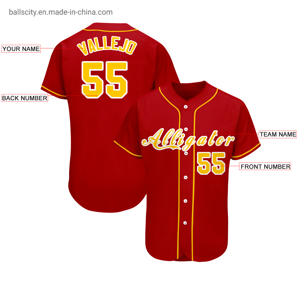 Sublimation Softball Wear Team Uniform Sports Custom Baseball T-Shirt Jerseys pictures & photos
